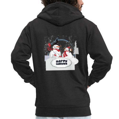 happy winter - Veste à capuche Premium Homme