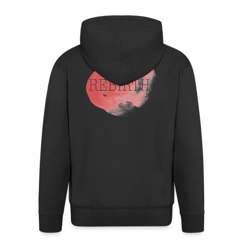 rebirth - Felpa con zip Premium da uomo