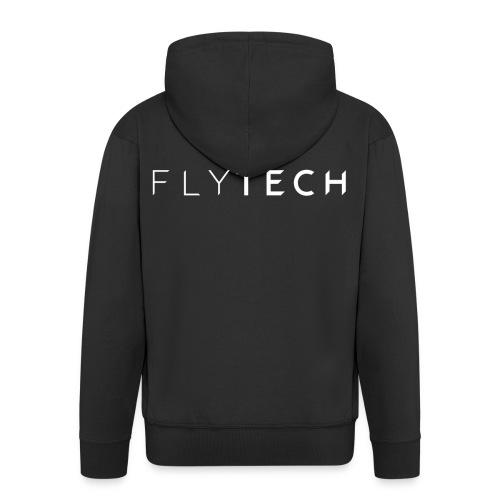 FLYTECH Official Logo black edition est.2017 - Mannenjack Premium met capuchon