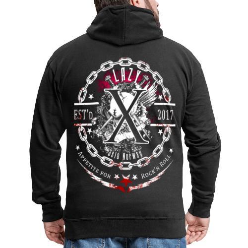 Lazy X - Appetite for Rock'n Roll - Men's Premium Hooded Jacket