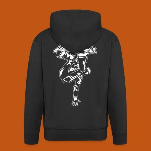 Skater / Skateboarder 03_weiß - Männer Premium Kapuzenjacke