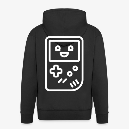 Smiling game console (white) - Men's Premium Hooded Jacket
