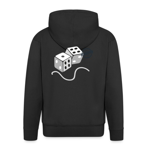 Dice - Symbols of Happiness - Men's Premium Hooded Jacket