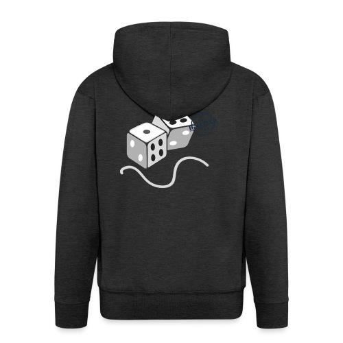 Dice - Symbols of Happiness - Men's Premium Hooded Jacket