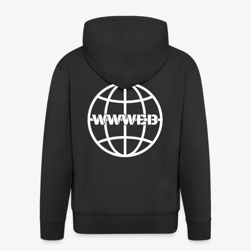 WWWeb (white) - Men's Premium Hooded Jacket