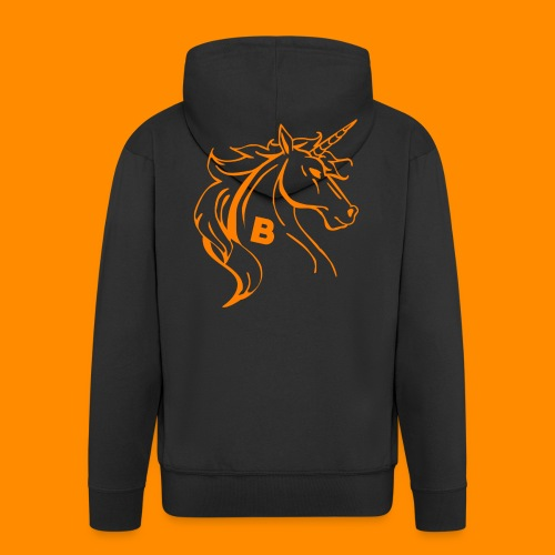 orange biodusty unicorn shirt - Mannenjack Premium met capuchon