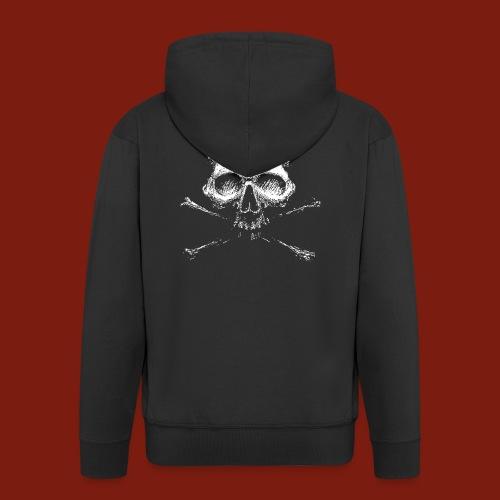 Old Skull - Men's Premium Hooded Jacket