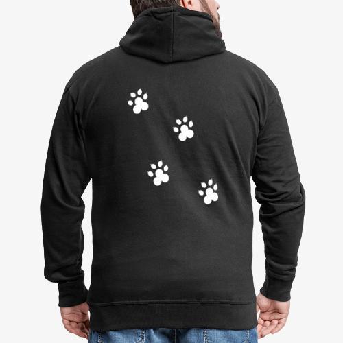 cat - Rozpinana bluza męska z kapturem Premium