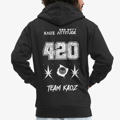 // Team Kaoz 420 Football Shirt - Männer Premium Kapuzenjacke