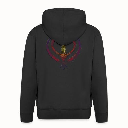 T-shirt sikh khanda encompassing world religions - Men's Premium Hooded Jacket