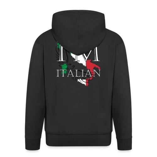 I am Italian - Felpa con zip Premium da uomo