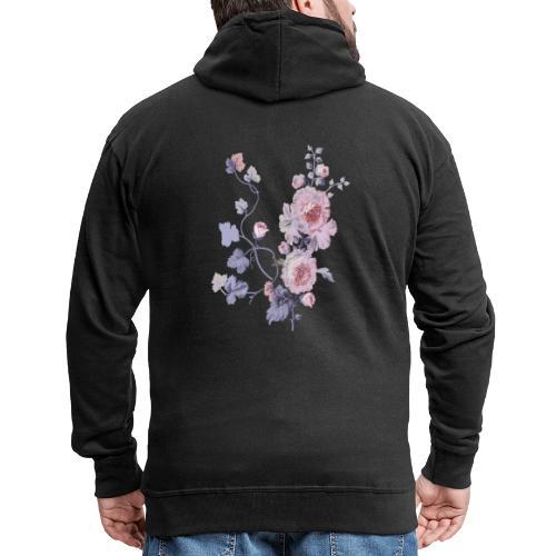 Schlichte Blumen - Männer Premium Kapuzenjacke