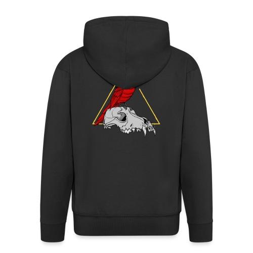 FIRE CARDINAL - Rozpinana bluza męska z kapturem Premium