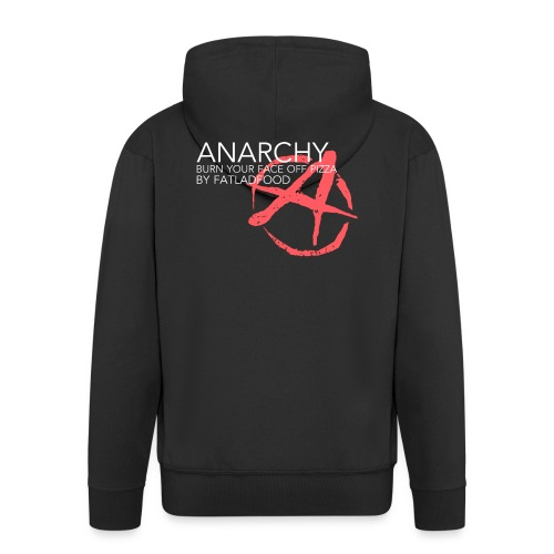 ANARCHY Black - Men's Premium Hooded Jacket