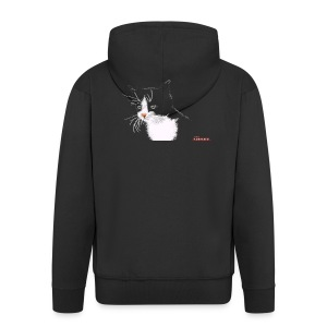 Cat FEMALE - Men's Premium Hooded Jacket
