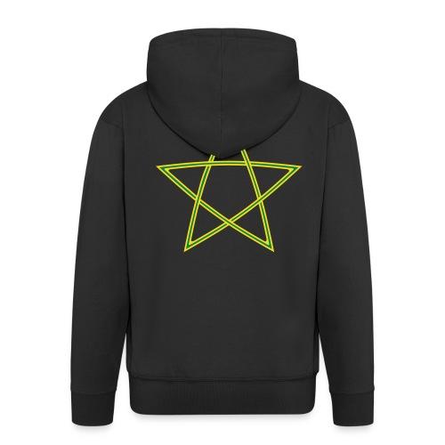 Pentagramm zweifarbig - Männer Premium Kapuzenjacke