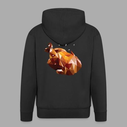 Turkey polyart - Men's Premium Hooded Jacket