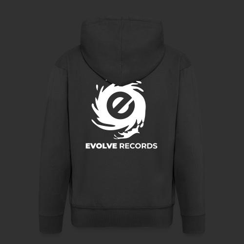 EVOLVE RECORDS - WHITE - Men's Premium Hooded Jacket