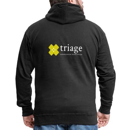 Triage Logo - Männer Premium Kapuzenjacke