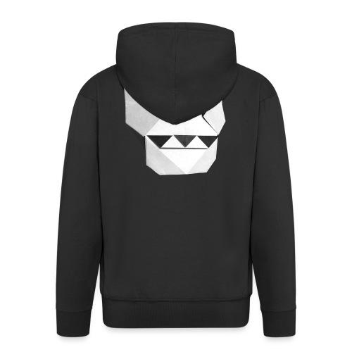Origami Skull - Skull Origami - Calavera - Teschio - Men's Premium Hooded Jacket