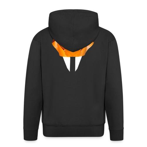 Origami Saber Toothed Tiger Mask - Origami Tiger - Men's Premium Hooded Jacket