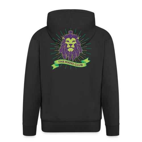 Man / Mane Club - Mann / Mähne Club Green Purple - Männer Premium Kapuzenjacke