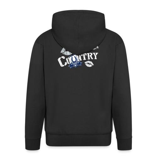 Kiss Me, I'm Country - CountryMania - Felpa con zip Premium da uomo