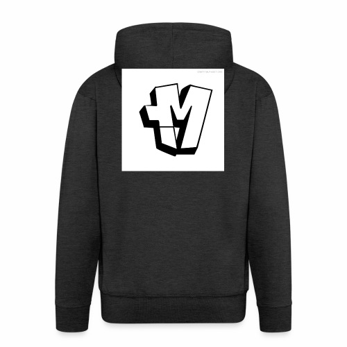 graffiti alphabet m - Men's Premium Hooded Jacket