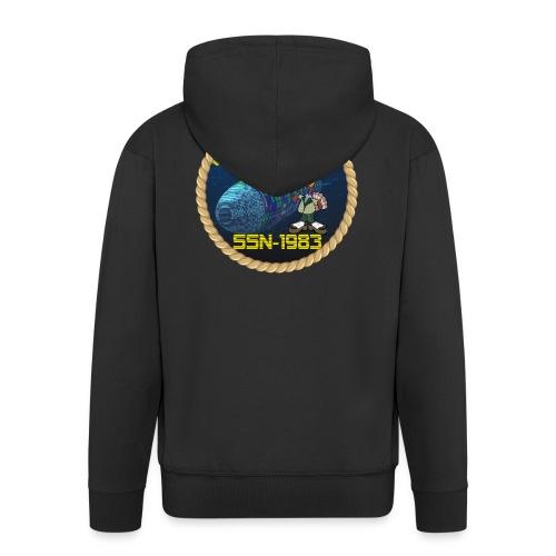 Command Badge SSN-1983 - Men's Premium Hooded Jacket