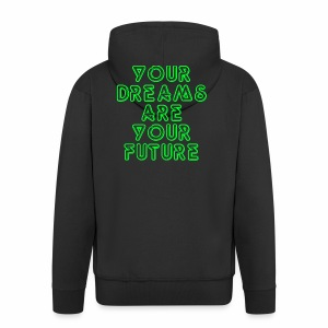 Future Clothing Slogan - Green Text - Men's Premium Hooded Jacket