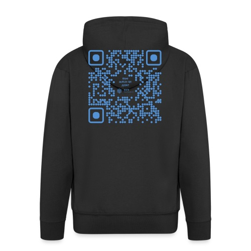 QR The New Internet Shouldn t Be Blockchain Based - Men's Premium Hooded Jacket