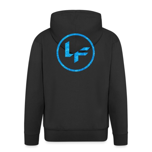 Water Logo - Men's Premium Hooded Jacket