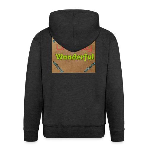 Autism statement - Men's Premium Hooded Jacket