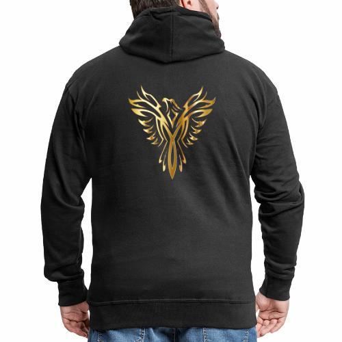 Złoty fenix - Rozpinana bluza męska z kapturem Premium