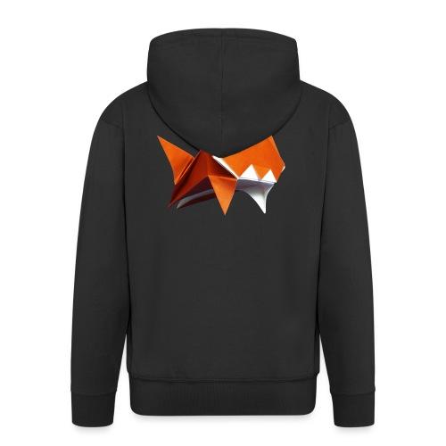 Jumping Cat Origami - Cat - Gato - Katze - Gatto - Men's Premium Hooded Jacket