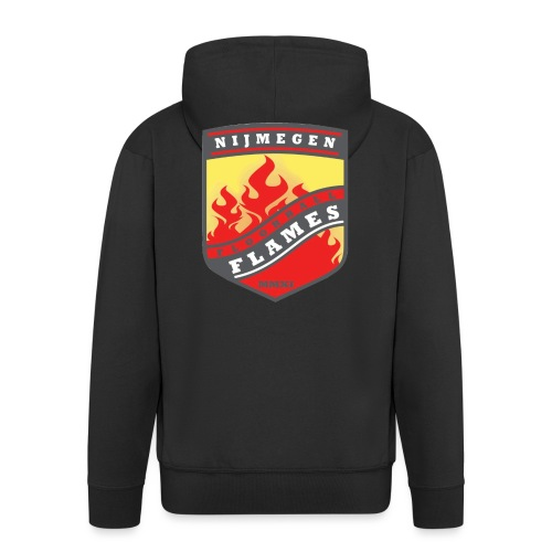 t-shirt kid-size zwart - Mannenjack Premium met capuchon