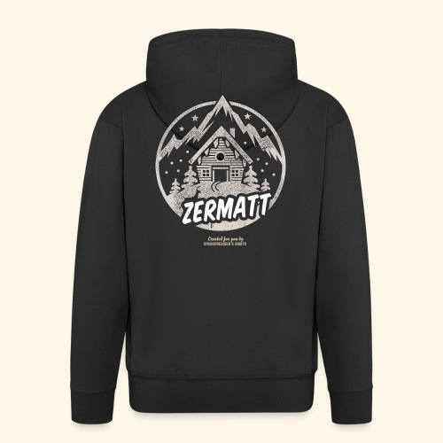 Zermatt Skigebiet Schweiz Design - Männer Premium Kapuzenjacke