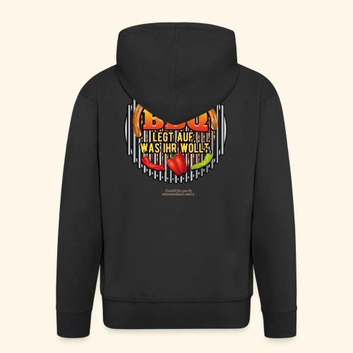 Grill T Shirt lustiger Spruch DJ BBQ - Männer Premium Kapuzenjacke