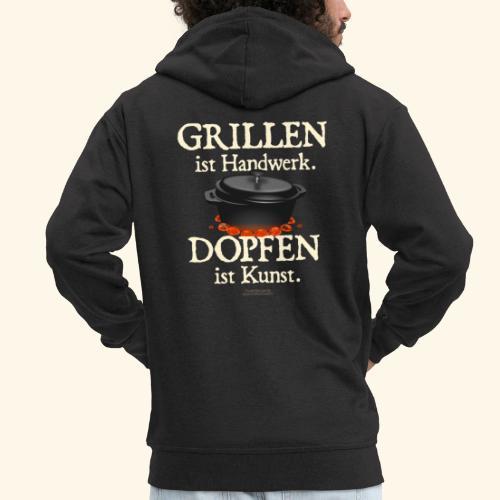 Dutch Oven T-Shirt Grillen Handwerk Dopfen Kunst - Männer Premium Kapuzenjacke