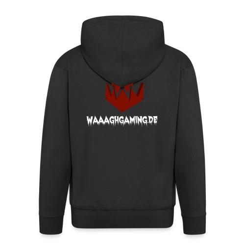 waaaghgaming_url_weiss - Männer Premium Kapuzenjacke