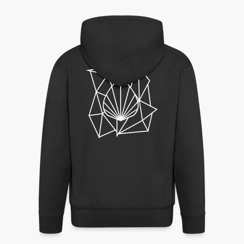 Polygon Augmented Logo - Men's Premium Hooded Jacket