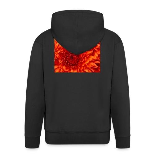 Chrysanthemum - Felpa con zip Premium da uomo