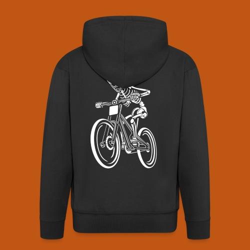 BMX / Mountain Biker 04_weiß - Männer Premium Kapuzenjacke