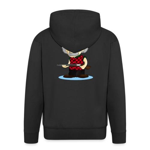 WOMENS Long Sleeve TEE REinstein Logo top left - Men's Premium Hooded Jacket