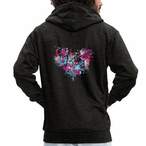 Love with Heart - Men's Premium Hooded Jacket
