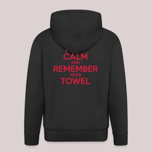Keep Calm and Remember your Towel   nerd   hipster - Männer Premium Kapuzenjacke