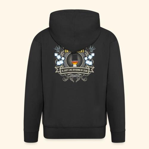 Whisky T Shirt Single Malt on the Rocks - Männer Premium Kapuzenjacke