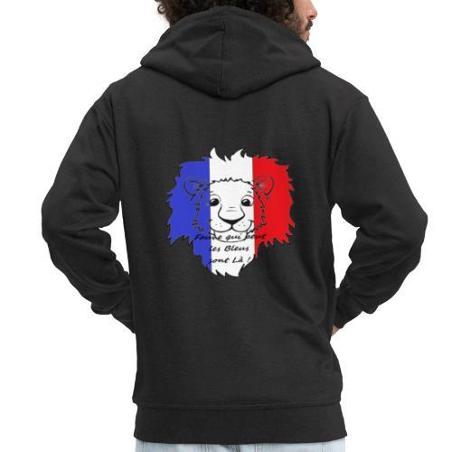 Lion supporter France - Veste à capuche Premium Homme