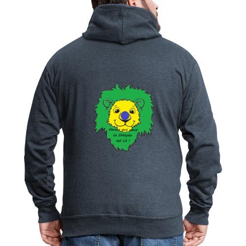 Lion supporter Brésil - Veste à capuche Premium Homme