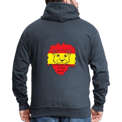Lion supporter Espagne - Veste à capuche Premium Homme